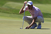 Chesson Hadley (USA) on the 14th green during Thursday's Round 1 of the 118th U.S. Open Championship 2018, held at Shinnecock Hills Club, Southampton, New Jersey, USA. 14th June 2018.<br /> Picture: Eoin Clarke | Golffile<br /> <br /> <br /> All photos usage must carry mandatory copyright credit (&copy; Golffile | Eoin Clarke)