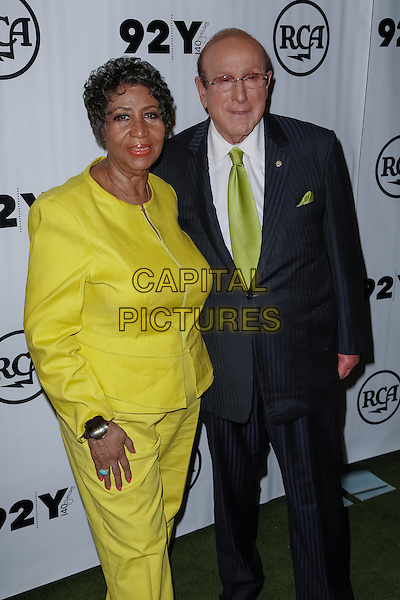 New York, NY - October 1 : Aretha Franklin and Clive Davis attend 92nd Street Y Presents Aretha Franklin and Clive Davis in Conversation with Anthony Decurtis held at the 92nd Street Y on October 1, 2014 in New York City. (Photo by Brent N. Clarke / MediaPunch)<br /> CAP/ADM/BNC<br /> &copy;BNC/ADM/Capital Pictures