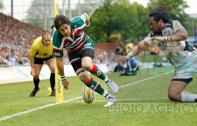 Horacio Agulla scores Leicester Tigers second try at Welford Road