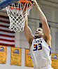Hunter Sabety #33 of Hofstra University dunks for two points during an NCAA men's basketball game against Drexel at Mack Sports Complex in Hempstead, NY on Saturday, Feb. 4, 2017.