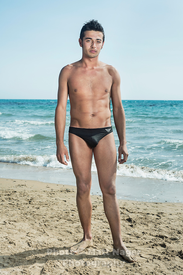 Vito Craparo at San Marco beach in the Mediterranean Sea in, Sciacca, Italy, in August 2014.<br />