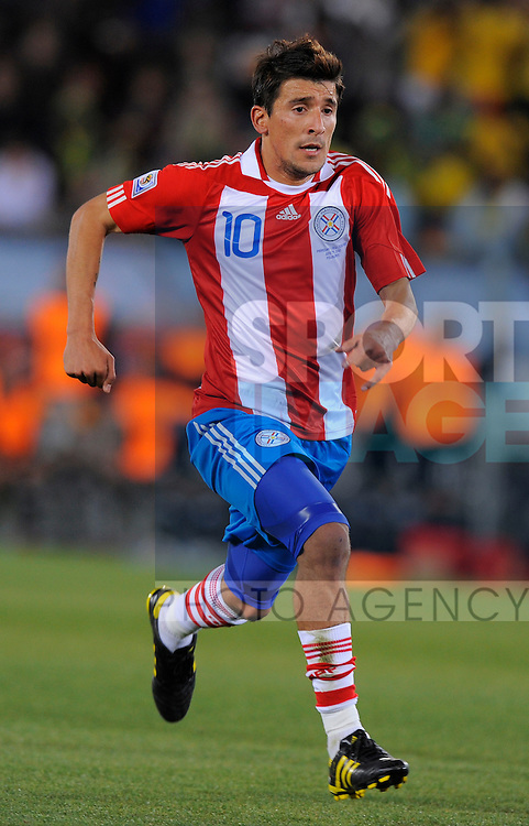 Edgar Benitez of Paraguay FIFA, World, Cup, 2010, South Africa, Peter Mokaba Stadium, Polokwane Group F