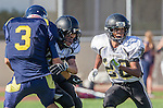 Santa Monica, CA 10/17/13 - \pj25\ in action during the Peninsula vs Santa Monica Junior Varsity football game at Santa Monica High School.