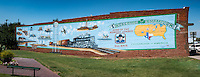 Mural in Shamrock Texas on Route 66.