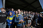 Home supporters in the shed watching the first-half action as Warrington Town played King's Lynn Town in the Northern Premier League premier division super play-off final tie at Cantilever Park, Warrington. The one-off match was between the winners of play-off matches in the Northern Premier League and the Southern League Premier Division Central to determine who would be promoted to the National League North. The visitors from Norfolk won 3-2 after extra-time, watched by a near-capacity crowd of 2,200.