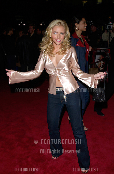 Actress JESSICA CAUFFIEL at the Hollywood premiere of her new movie Valentine..01FEB2001.  © Paul Smith/Featureflash