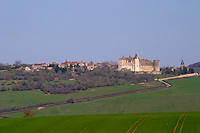 Chateau of Chateauneuf en Auxois vineyard burgundy france