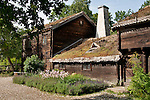 The Kyrkhult Farmhouse at Skansen in Stockholm, the outdoor museum of traditional Swedish buildings and farmsteads