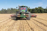 Direct drilling OSR, placing DPA and applying slug pellets with a 8m drill - Lincolnshre, August