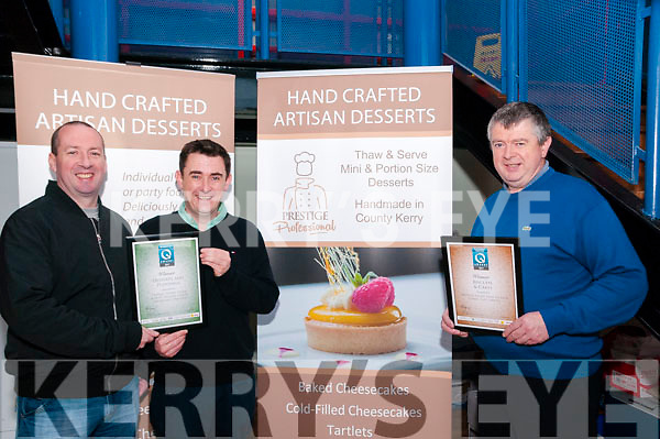 Food Awards: Kevin Carey, Quality manager, Derek O'Connor, production manager & John O'Connor, Managing Director of Prestige Foods, Listowel who won 2  Irish Food Quality awards recently.
