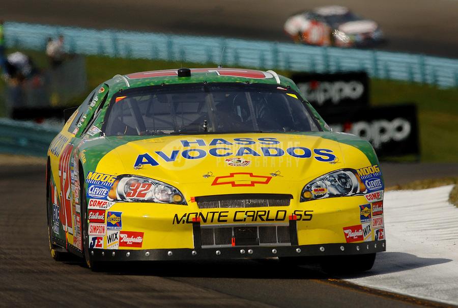 Aug. 12, 2006; Watkins Glen, NY, USA; Nascar Busch Series driver Dave Blaney (32) during the Zippo 200 at Watkins Glen International. Mandatory Credit: Mark J. Rebilas.