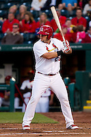 Matthew Adams (25) of the Springfield Cardinals at bat during a game against the Tulsa Drillers on April 29, 2011 at Hammons Field in Springfield, Missouri.  Photo By David Welker/Four Seam Images.