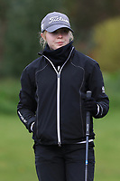 Rachel Foster (SCO) on the 1st tee during Round 1 of the Irish Girls U18 Open Stroke Play Championship at Roganstown Golf &amp; Country Club, Dublin, Ireland. 05/04/19 <br /> Picture:  Thos Caffrey / www.golffile.ie