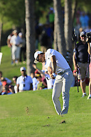 Haotong Li (CHN) plays his 2nd shot on the 17th hole during Sunday's Final Round of the 2018 Turkish Airlines Open hosted by Regnum Carya Golf &amp; Spa Resort, Antalya, Turkey. 4th November 2018.<br /> Picture: Eoin Clarke | Golffile<br /> <br /> <br /> All photos usage must carry mandatory copyright credit (&copy; Golffile | Eoin Clarke)