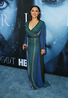 "LOS ANGELES, CA July 12- Keisha Castle-Hughes,  At Premiere Of HBO's ""Game Of Thrones"" Season 7 at The Walt Disney Concert Hall, California on July 12, 2017. Credit: Faye Sadou/MediaPunch"