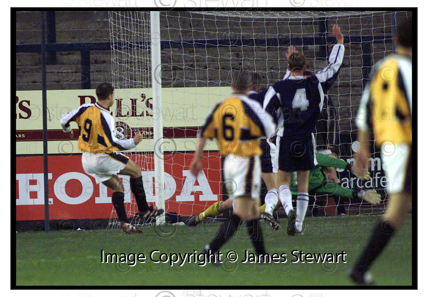 20th November 1999                 Copyright Pic : James Stewart .Ref :                           .File Name : stewart13-falkirk v dunfermline                        .STEVIE CRAWFORD FIRES THE BALL PAST THE DIVING MYLES HOGARTH TO SCORE DUNFERMLINE'S SECOND GOAL.....Payments to :-.James Stewart Photo Agency, Stewart House, Stewart Road, Falkirk. FK2 7AS      Vat Reg No. 607 6932 25.Office : +44 (0) 1324 630007        Mobile : 07721 416997.Fax     : +44 (0) 1324 630007.E-mail : jim@jspa.co.uk.If you require further information then contact Jim Stewart on any of the numbers above.........