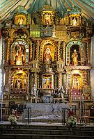 Peru, Maras.  Altar, San Francisco de Asis Church, 16th. century.