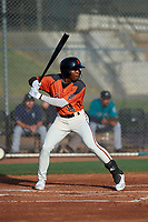 AZL Giants Orange P.J. Hilson (16) at bat during an Arizona League game against the AZL Mariners on July 18, 2019 at the Giants Baseball Complex in Scottsdale, Arizona. The AZL Giants Orange defeated the AZL Mariners 7-4. (Zachary Lucy/Four Seam Images)