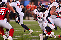 Ohio, Canton - August 1, 2019: Denver Broncos running back Devontae Jackson #48 runs the ball during a pre-season game against the Atlanta Falcons at the Tom Benson stadium in Canton, Ohio August 1, 2019. This game marks start of the 100th season of the NFL. (Photo by Don Baxter/Media Images International)
