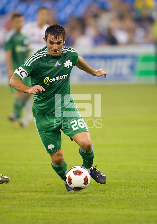 August 03 2010 Panathinaikos FC midfielder Georgios Karagounis No.26 in action during an international friendly between Inter Milan FC and Panathinaikos FC at the Rogers Centre in Toronto..Final score was 3-2 for Panathinaikos FC.