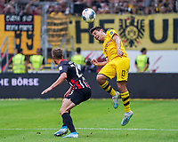 Kopfball Raphel Guerreiro (Borussia Dortmund) gegen Erik Durm (Eintracht Frankfurt) - 22.09.2019: Eintracht Frankfurt vs. Borussia Dortmund, Commerzbank Arena, 5. Spieltag<br /> DISCLAIMER: DFL regulations prohibit any use of photographs as image sequences and/or quasi-video.