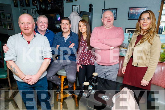 Gerry Sullivan, Tony Hynes, Sean and Kay O'Leary, John O'Sullivan and Angela Fitzgerald enjoying the Cheltenham Gold Cup day in the Munster Bar on Friday.