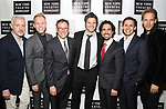 Scott Frankel, Justin Paul, Michael Greif, Tom Kitt, Alex Lacamoire, Benj Pasek, David Korins attend New York Theatre Workshop's 2017 Spring Gala at the Edison Ballroom on May 15, 2017 in New York City.