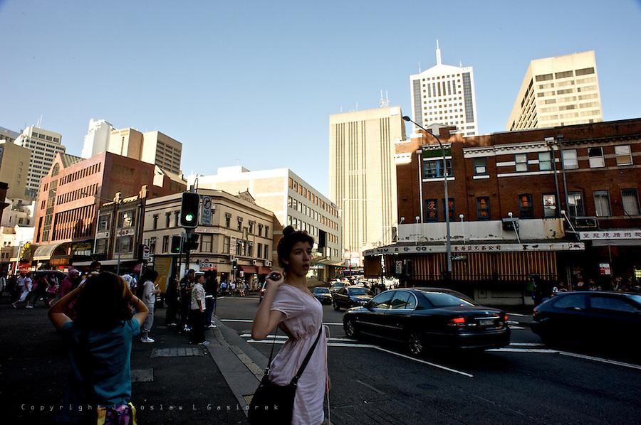 Sydney Chinatown, streets life.