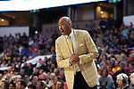 WINSTON-SALEM, NC - FEBRUARY 24: Wake Forest head coach Danny Manning. The Wake Forest University Demon Deacons hosted the University of Notre Dame Fighting Irish on February 24, 2018 at Lawrence Joel Veterans Memorial Coliseum in Winston-Salem, NC in a Division I men's college basketball game. Notre Dame won the game 76-71.