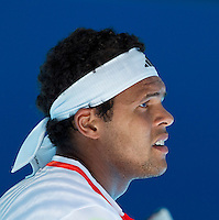 JO-WILFRED TSONGA (FRA) against KEI NISHIKORI (JPN ) in the fourth round of the Men's Singles. Kei Nishikori  beat Jo-Wilfred Tsonga 2-6 6-2 6-1 3-6 6-3..23/01/2012, 23rd January 2012, 23.01.2012 - Day 8..The Australian Open, Melbourne Park, Melbourne,Victoria, Australia.@AMN IMAGES, Frey, Advantage Media Network, 30, Cleveland Street, London, W1T 4JD .Tel - +44 208 947 0100..email - mfrey@advantagemedianet.com..www.amnimages.photoshelter.com.
