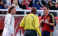 DC United's Gonzalo Peralta (2) and Real Salt Lake's Kenny Deuchar (14) in the Real Salt Lake 4-0 over DC United at Rice-Eccles Stadium in Salt Lake City, Utah on April 12, 2008