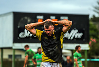 Chris Middleton reflects as the final whistle approaches during the Mitre 10 Cup preseason rugby match between the Wellington Lions and Manawatu Turbos at Otaki Domain in Otaki, New Zealand on Sunday, 6 August 2017. Photo: Dave Lintott / lintottphoto.co.nz