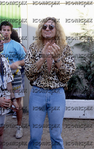 Whitesnake - vocalist David Coverdale backstage at the Sonoria Festival in Milan Italy - 07 Jul 1994.  Photo credit: George Chin/IconicPix