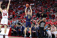 RALEIGH, NC - JANUARY 9: Dane Goodwin #23 of the University of Notre Dame takes a jump shot during a game between Notre Dame and NC State at PNC Arena on January 9, 2020 in Raleigh, North Carolina.