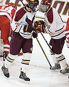 Brian Isaac (BC - 29), Pat Morris (BC - 8) - The Boston College Eagles defeated the visiting Boston University Terriers 6-2 in ACHA play on Sunday, December 4, 2011, at Kelley Rink in Conte Forum in Chestnut Hill, Massachusetts.