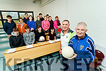 Pat Sheehy and Maurice O'Sullivan (Referee Tutors with the Kerry County Board), who teach Transition Year students the Basic Referees Course, pictured here at Pobalscoil Chorca Dhuibhne, Dingle on Friday last.