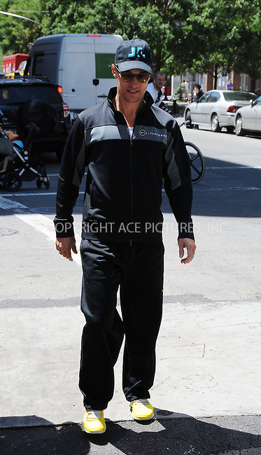 WWW.ACEPIXS.COM . . . . .  ....June 27 2012, New York Cityt....Actor Matthew McConaughey sets off for a run on June 27 2012 in New York City....Please byline: CURTIS MEANS - ACE PICTURES.... *** ***..Ace Pictures, Inc:  ..Philip Vaughan (212) 243-8787 or (646) 769 0430..e-mail: info@acepixs.com..web: http://www.acepixs.com