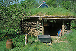 The apple press shed. Tinker's Bubble, Low impact community,  Somerset