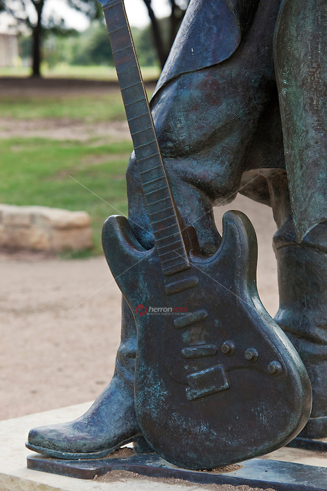 The Stevie Ray Vaughan famous guitar Statue in Austin, Texas