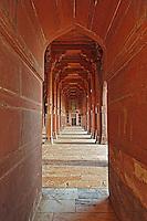 Prayer hall, Dargah (Jama Masjid) mosque, Fatehpur Sikri, in the state of Uttar Pradesh, India.