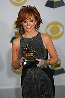 NEW YORK - JANUARY 28: Reba McEntire poses in the press room at the 60th Annual Grammy Awards at Madison Square Garden on January 28, 2018 in New York City. (Photo by Ben Hider/PictureGroup)
