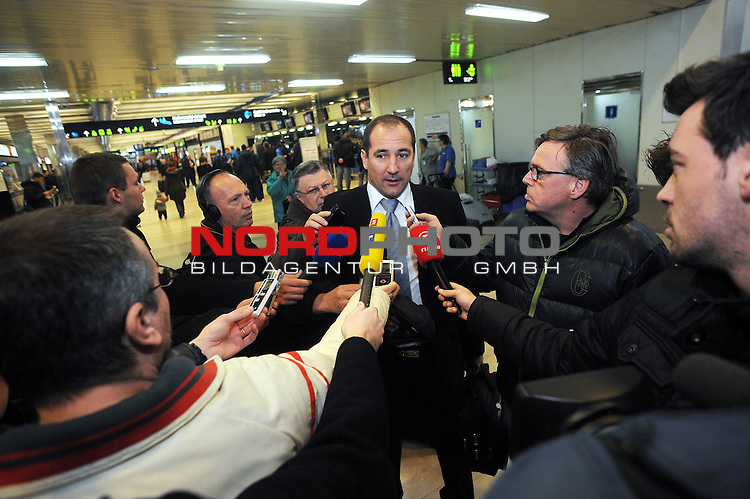 25.03.2013., Zagreb,Croatia  - Departure of Croatian national football team for qualifying match with  Wales..  Igor Stimac. <br /> <br /> Foto &not;&copy;  nph / PIXSELL / Daniel Kasap
