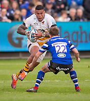 Wasps' Nathan Hughes in action during todays match<br /> <br /> Photographer Bob Bradford/CameraSport<br /> <br /> Premiership Rugby Cup - Bath Rugby v Wasps - Sunday 5th May 2019 - The Recreation Ground - Bath<br /> <br /> World Copyright © 2018 CameraSport. All rights reserved. 43 Linden Ave. Countesthorpe. Leicester. England. LE8 5PG - Tel: +44 (0) 116 277 4147 - admin@camerasport.com - www.camerasport.com