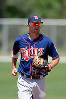 Minnesota Twins shortstop Levi Michael #16 during a minor league Spring Training game against the Boston Red Sox at JetBlue Park Training Complex on March 27, 2013 in Fort Myers, Florida.  (Mike Janes/Four Seam Images)