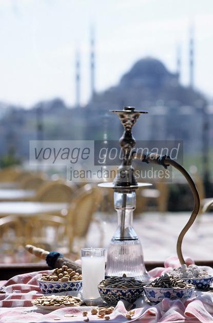 """Europe et Asie /Turquie/Istanbul: Restaurant """"Zeyrekhane"""" Quartier Unkapani - Raki, Pistaches et Narguilé l'art de vivre Ottoman"""