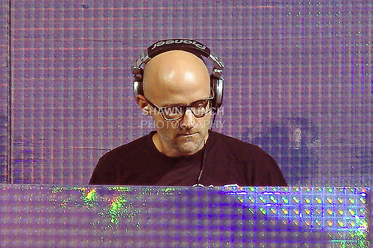 Moby during his DJ set at the Electic Zoo Festival 2011 at Randell's Island, September 2, 2011.