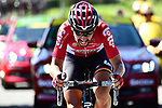 Thomas De Gendt (BEL) Lotto-Soudal in action during Stage 14 of the 104th edition of the Tour de France 2017, running 181.5km from Blagnac to Rodez, France. 15th July 2017.<br /> Picture: ASO/Alex Broadway | Cyclefile<br /> <br /> <br /> All photos usage must carry mandatory copyright credit (&copy; Cyclefile | ASO/Alex Broadway)