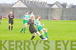 Tralee Dynamos Paula O'Regan and Killarney Celtic's Melissa Buckley in action at Cahermoneen, Tralee on Sunday.