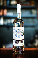 Spring 44 vodka at their distillery in Loveland, Colorado, Tuesday, February 15, 2017. Spring44, which makes craft vodka and gin, uses only pure water collected from a spring located in Colorado's Buckhorn Canyon. <br /> <br /> Photo by Matt Nager