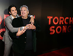 """Michael Hsu Rosen and Harvey Fierstein  attends the Broadway Opening Night After Party for """"Torch Song"""" at Sony Hall on November 1, 2018 in New York City."""